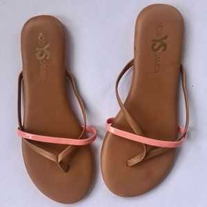 YOSI SAMRA *NEW* Leather Sandals Pink & Tan Brown
